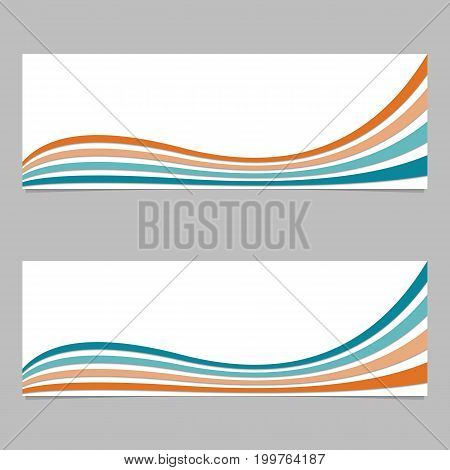 Colorful abstract banner background from wave stripes - vector design with 3d shadow effect