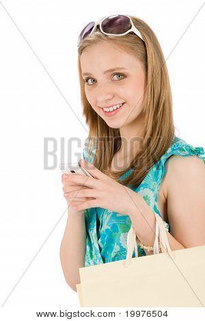 Shopping Teenager