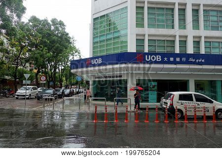 Uob Signboard On The Street