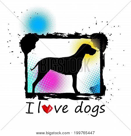 dog animal puppy pet vector graphic thoroughbred
