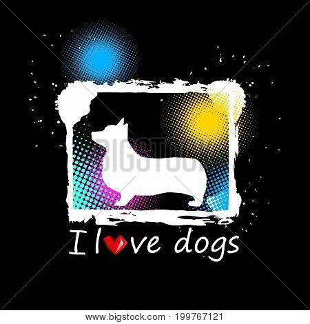 welsh dog corgi animal illustration pet white ears breed pembroke