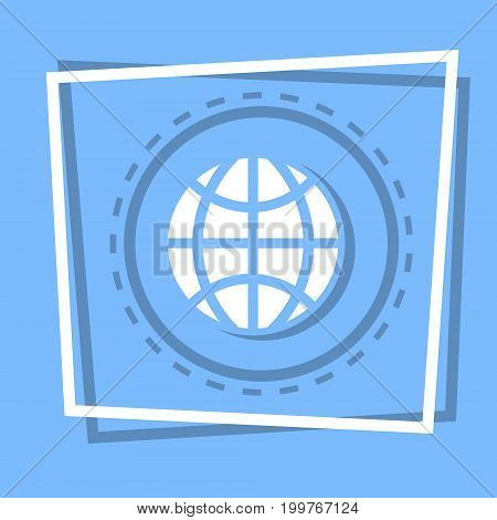 World Globe Icon Earth Planet Concept Flat Vector Illustration