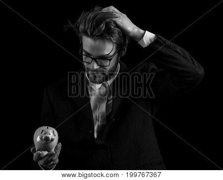 Business Man In Black Suit