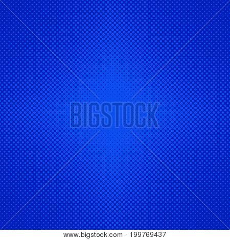 Abstract halftone dot pattern background - vector graphic design from blue circles in varying sizes