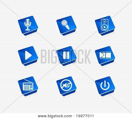 Vector Media Icon Set