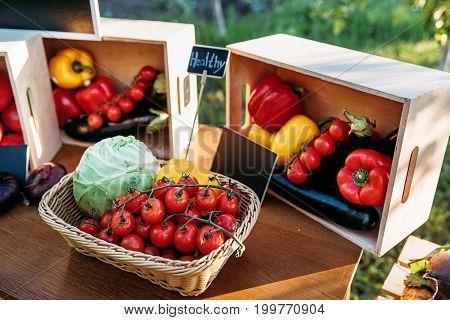 Fresh Vegetables At Farmers Market