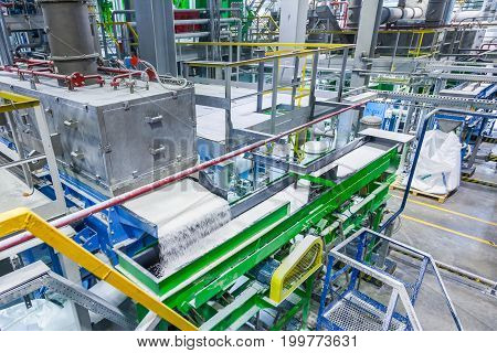 Rubber production line rubber chemical production in Voronezh at the SIBUR plant