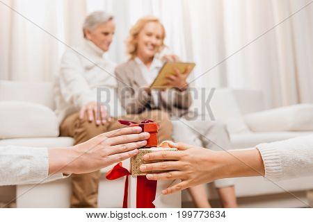 Kids Holding Gift Box