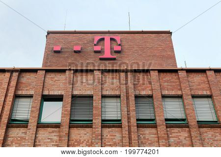 Dortmund, Germany - July 24, 2016: Deutsche Telekom building and office. Deutsche Telekom is a German telecommunications company headquartered in Bonn
