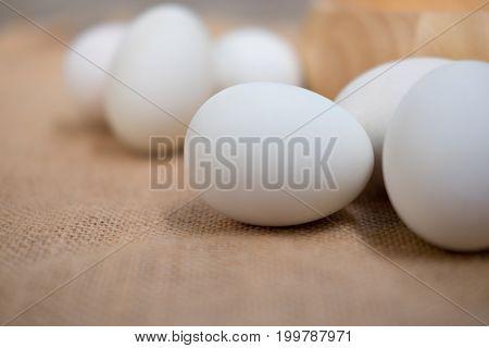 Salt preservation white duck egg for food in asian Thailand.