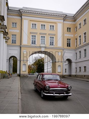An Old Car In Saint Petersburg, Russia