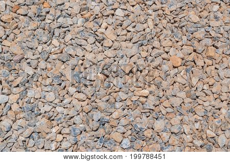 Closeup To Small Gray Stone Background Texture