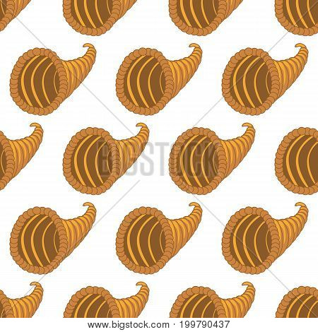 Horn of plenty pattern on the white background. Vector illustration