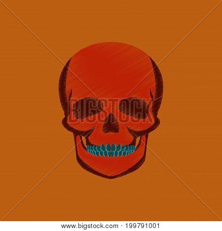 flat shading style icon skull anatomical human
