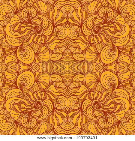 Abstract  seamless pattern in  orange colors for  decoration cosmetic perfume textile clothes package