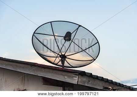 Satellite dish - retro vintage filter effect