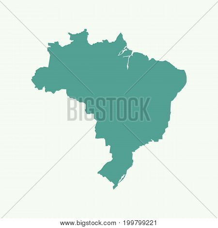 Silhouette of Brazil map vector illustration graphic