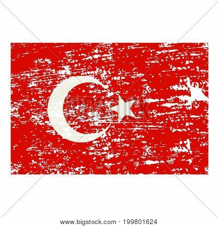 Turkey flag The national flag of Turkey. Flag of Turkey vector illustration