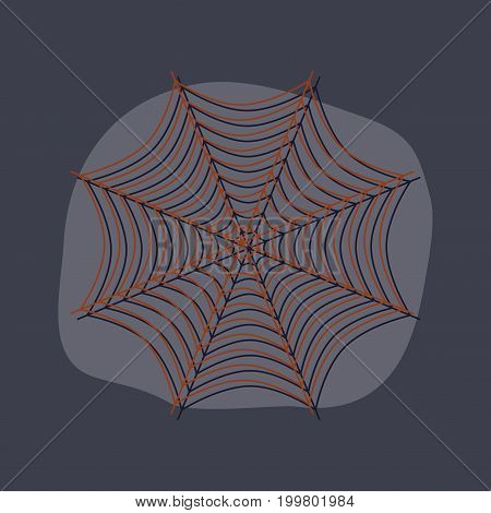 paper sticker on stylish background of spider web