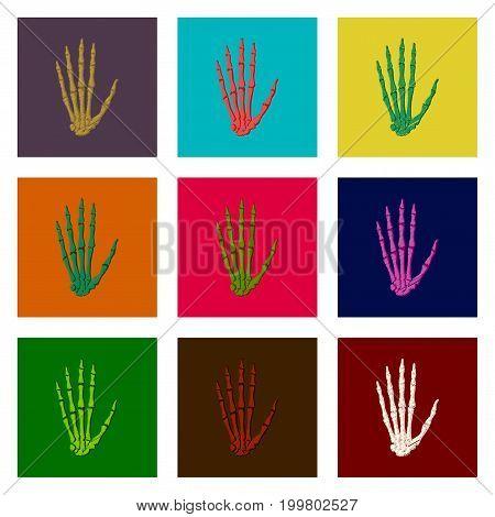 assembly of flat shading style icon wrist bone