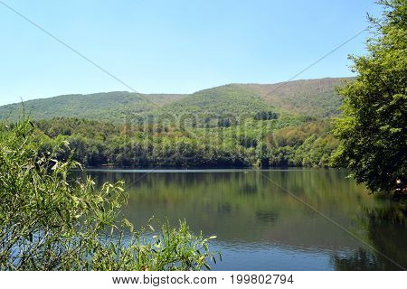 Marshes reservoirs and rivers in the mountains The Montseny