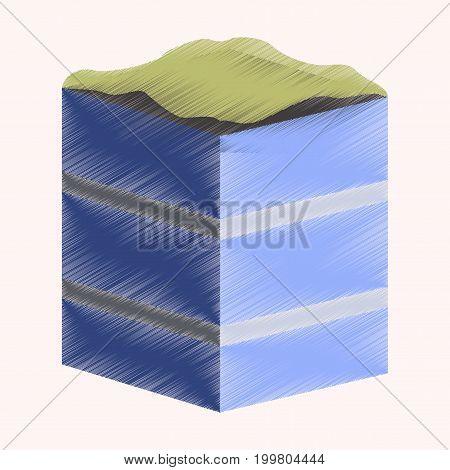 flat shading style icon Piece of cake