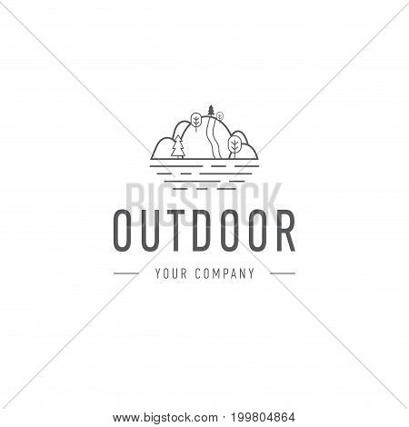 Outdoor explorer badge. Illustration of outdoor explorer label. Typography and roughen style. Outdoor explorer logo. Inspirational text. Outdoor explorer stock vector
