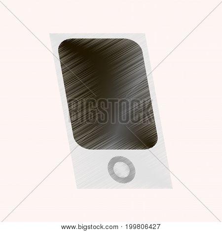 flat shading style icon music player electronics