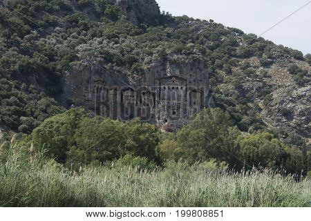 Lycian civilization.The tombs of the kings living in the ancient city of Caunos