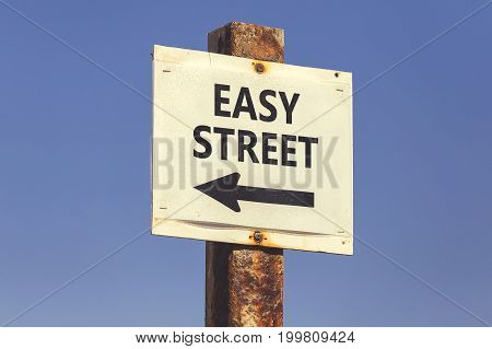 Easy Street Word And Arrow Signpost 2