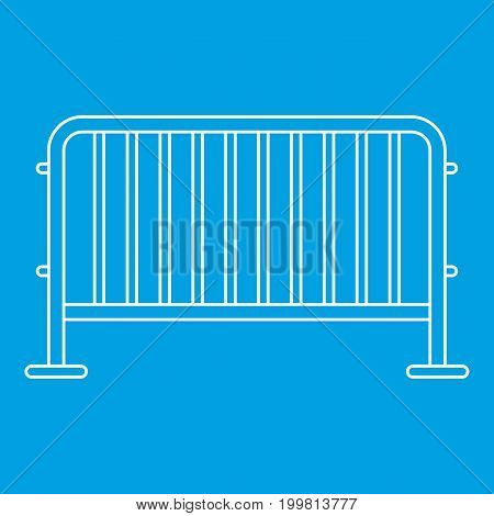 Steel barrier icon blue outline style isolated vector illustration. Thin line sign
