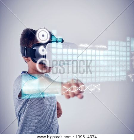 Keyboard interface against schoolboy using virtual reality headset