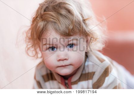 Blond Curly-haired Child