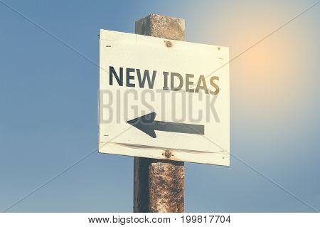 New Ideas Word And Arrow Signpost 3