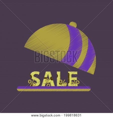 flat shading style icon sale percent dish cover
