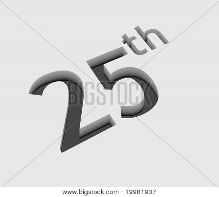 Vector 25Th Number Design