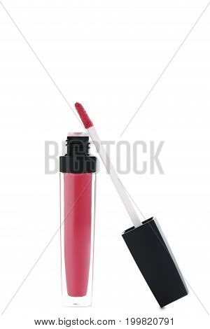 Colorful Lip Gloss Isolated On A White Background