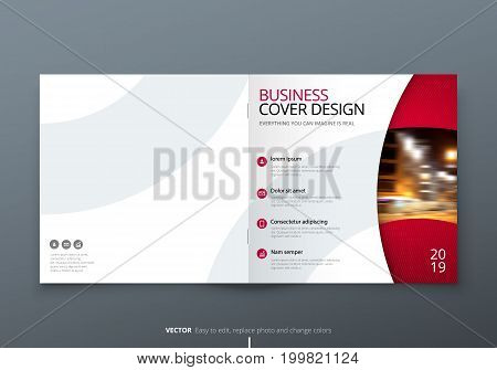 Square Brochure design. Magenta corporate business rectangle template brochure, report, catalog, magazine. Brochure layout modern circle shape abstract background. Creative brochure vector concept