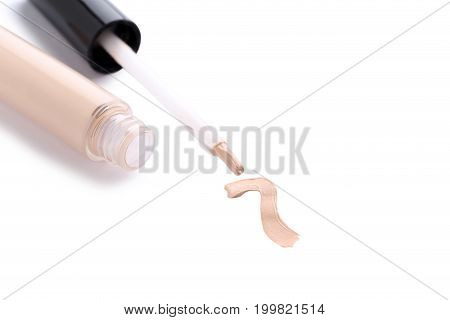 Makeup Tonal Foundation Isolated On A White