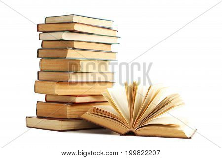 Old Books Isolated On A White Background