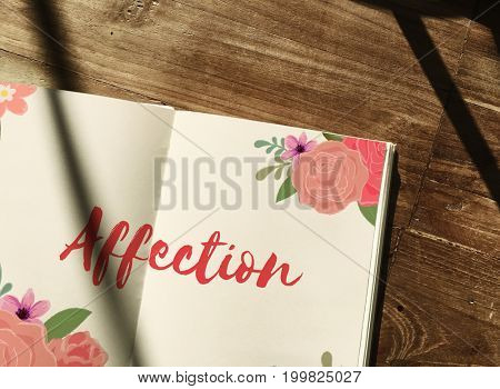 Affection Love Letter Message Words Graphic