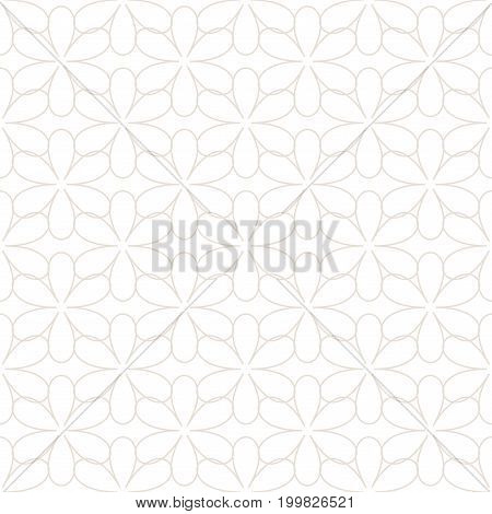 Light beige flower on white background . Fashion graphic background design. Modern stylish abstract texture. Monchrome template for prints textiles wrapping wallpaper website etc. Vector illustration
