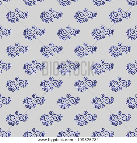 Spiral blue on blue background. Fashion graphic design. Modern stylish abstract texture. Colorful template for prints textiles wrapping wallpaper website etc. Vector illustration
