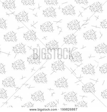Strip chaotic seamless pattern. Fashion graphic background design. Modern stylish abstract texture. Monochrome template for prints textiles wrapping wallpaper etc. Vector illustration