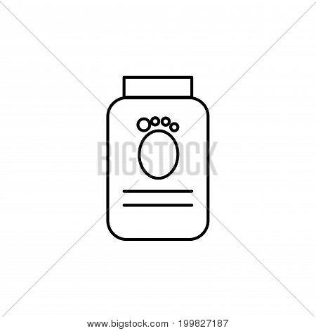 pets food jar simple linear vector icon