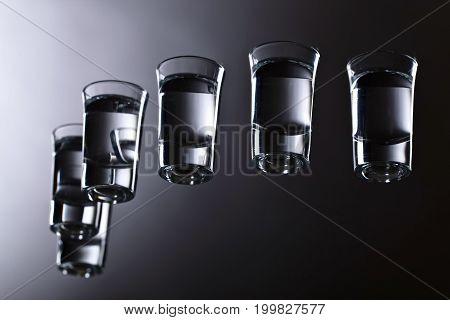 Glasses Of Vodka .