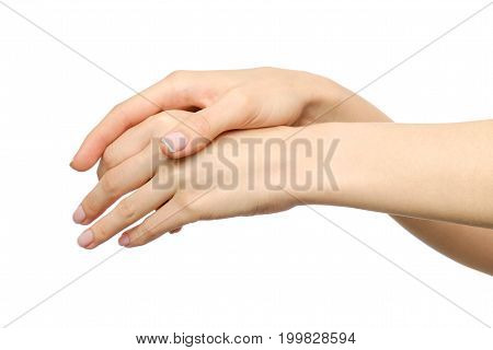 Sensual Female Hands Rubbing Each Other