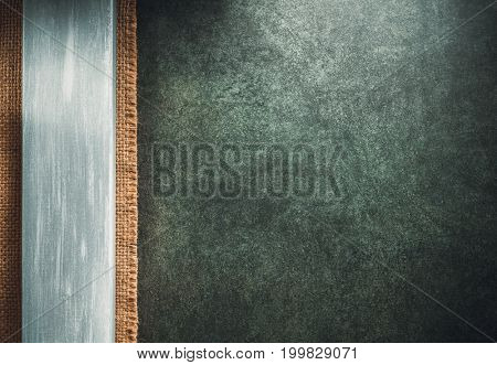 wooden board on stone background texture