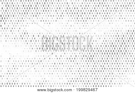 Binary code vector background. Coding, programming or hacking concept. Computer science illustration with 1 and 0 symbols repetitions.