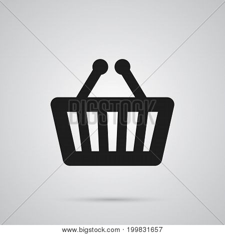 Vector Bag Element In Trendy Style.  Isolated Basket Icon Symbol On Clean Background.